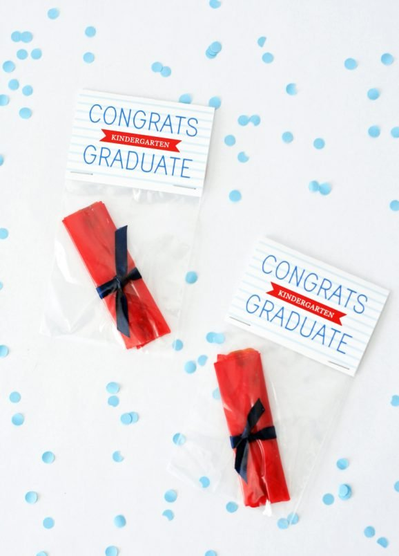 Congrats Graduate Fruit Roll-Up Treats for Preschool Graduation