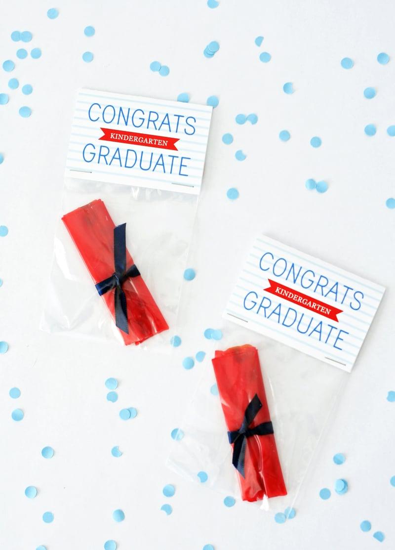 Congrats Graduate Fruit Roll-Up Treats for Preschool Graduation