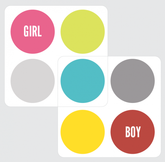 Color Palette that goes from Girl Nursery into a Boy Nursery at PagingSupermom.com