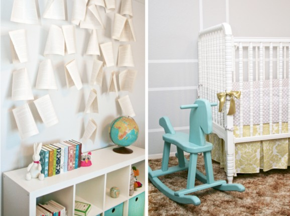Girl Literary Nursery at PagingSupermom.com