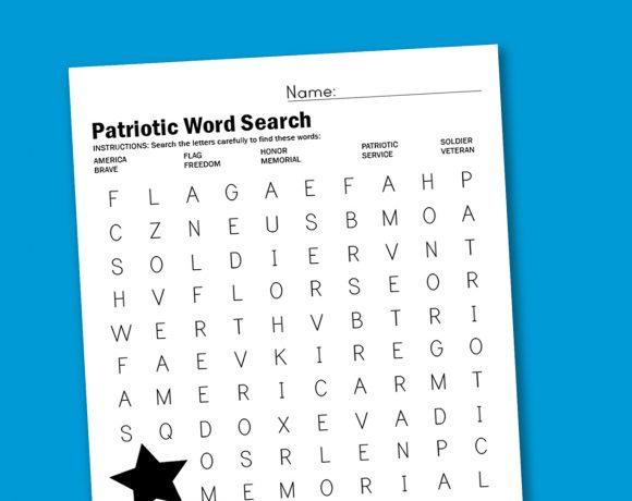 Patriotic Word Search