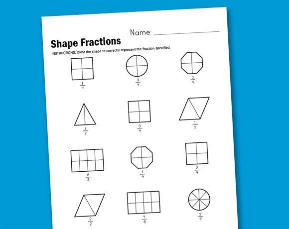 Worksheet Wednesday: Shape Fractions