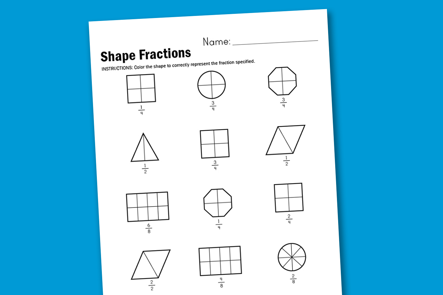 math worksheet : worksheet wednesday shape fractions : Fractions Of Shapes Worksheets