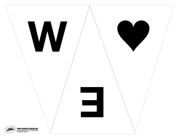 We Heart Daddy Free Printable Banner