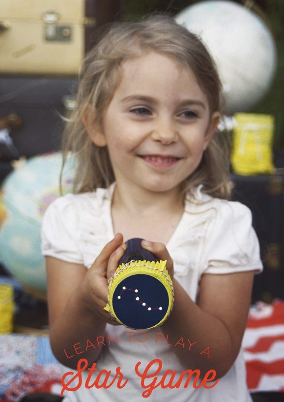 Constellation Flashlight Game for Star Gazing Party from PagingSupermom.com #thepartyhop