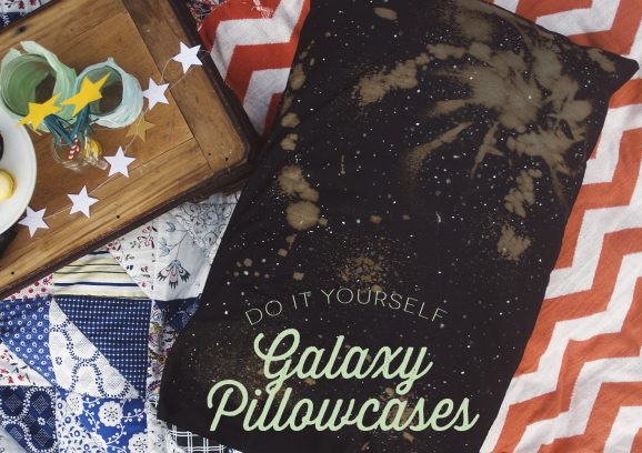 DIY Galaxy Pillow Cases on PagingSupermom.com #thepartyhop