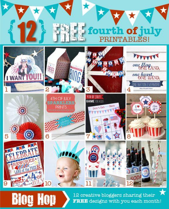 12 Free Patriotic Printables at PagingSupermom.com