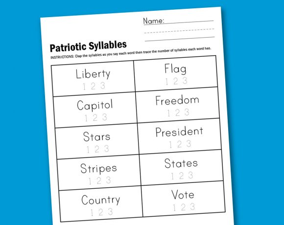 Worksheet Wednesday: Patriotic Syllables