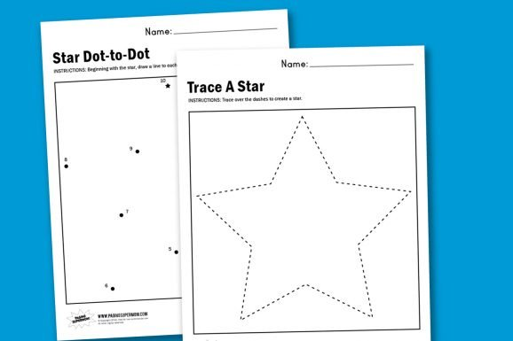 photograph relating to Printable Star Images referred to as Worksheet Wednesday: Crank out A Star - Paging Supermom
