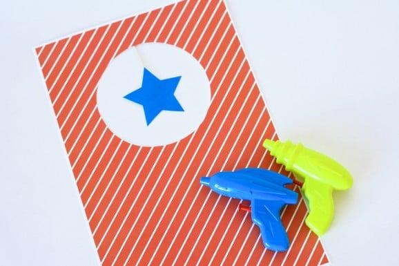 Free Printable Targets for Water Guns at PagingSupermom.com #summerfun