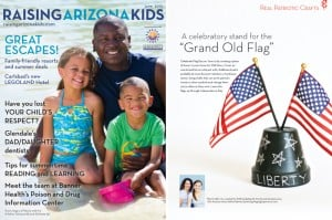 Make a Chalkboard stand for Flag Day at PagingSupermom.com