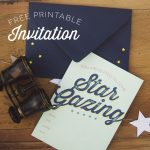 Star Gazing Party Invitation Free Printable #thepartyhop