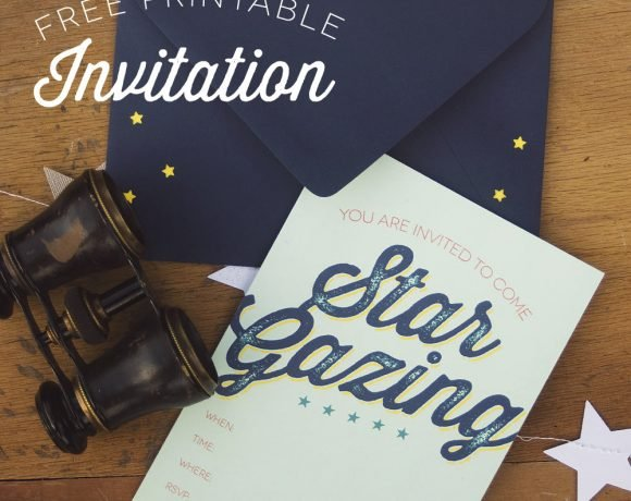 Star Gazing Party Invites & Decor