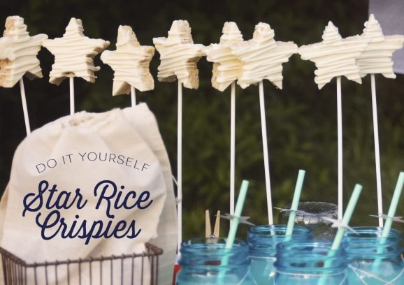 Star Rice Cereal Treats for Star Gazing Party #thepartyhop