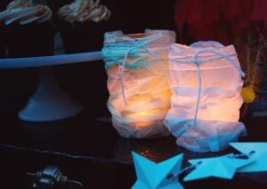 Star Gazing Party Tissue Paper Lanterns