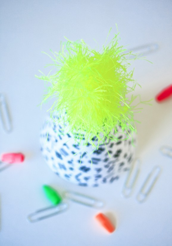 Neon Back to School Party Hat from PagingSupermom.com