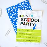 Neon Back to School Party Invite