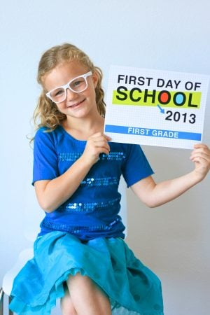 First Day of School Signs at PagingSupermom.com
