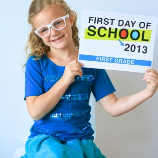 2013 First Day of School Photo Signs & Tips