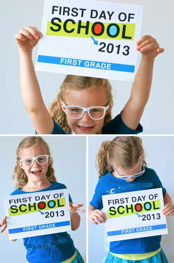 Last Day Of School 2013 First day of school signs at