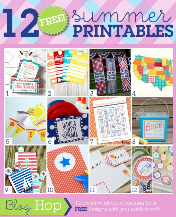 12 Free SUMMER Printables at PagingSupermom.com