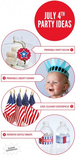 July Fourth Party Ideas from PagingSupermom.com