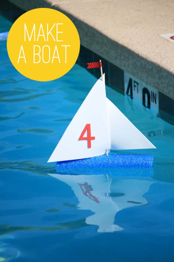 Make a Pool Noodle Boat