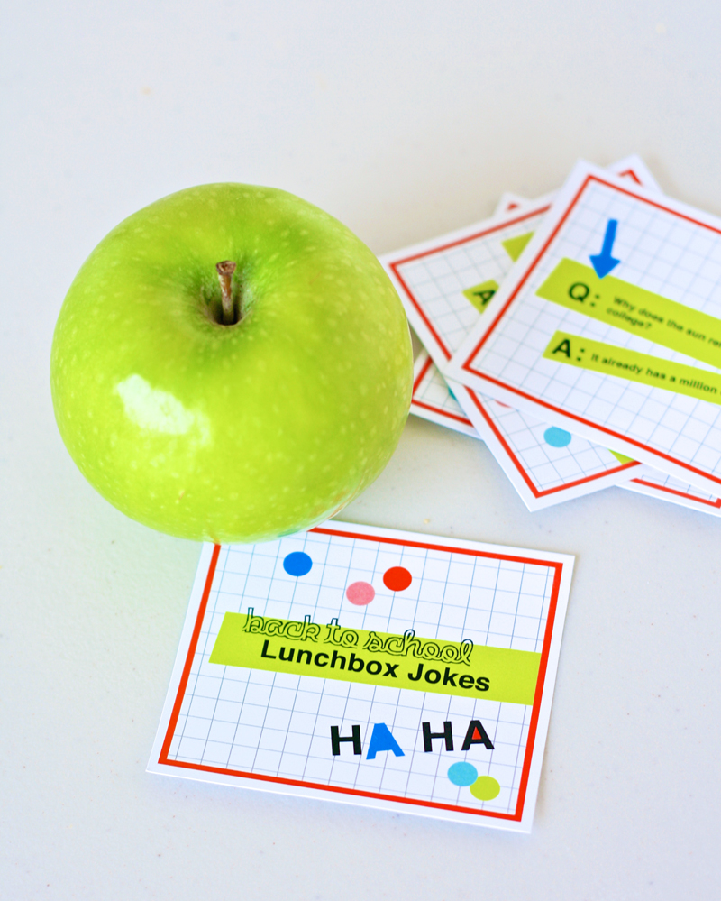 Neon Back To School Lunchbox Jokes