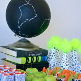 Back to School with Neon Party Food