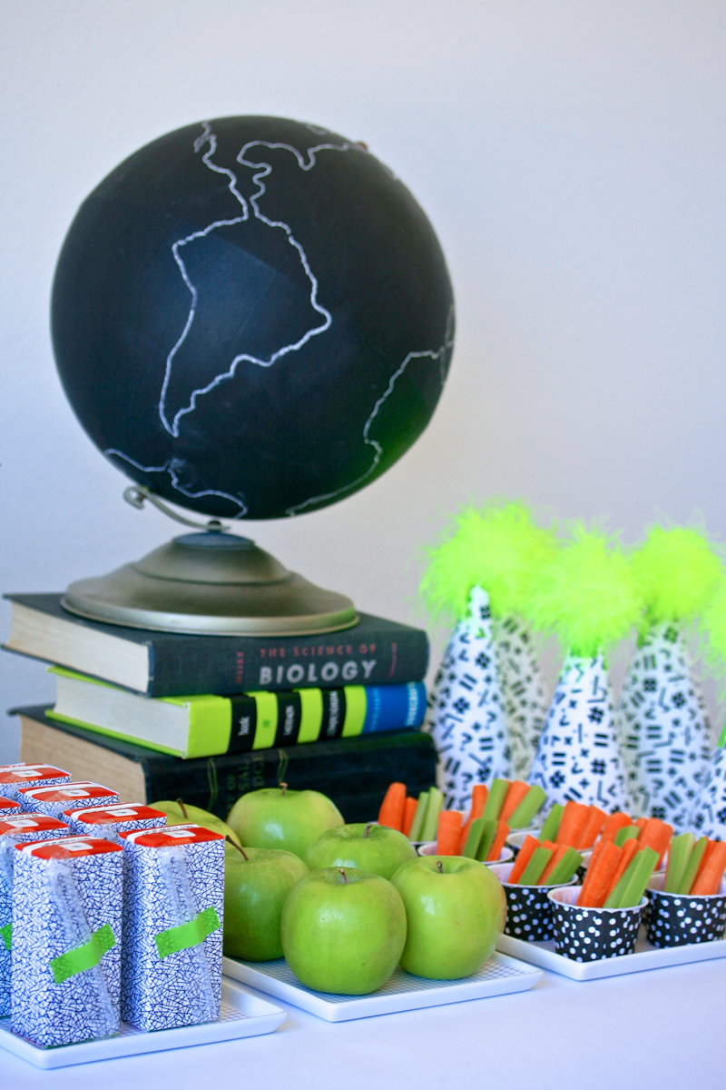 Back to School with Neon free printable decor kit