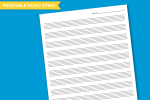Printable Music Staff at PagingSupermom.com