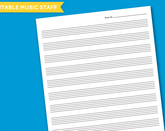 Printable Music Staff at PagingSupermom.com
