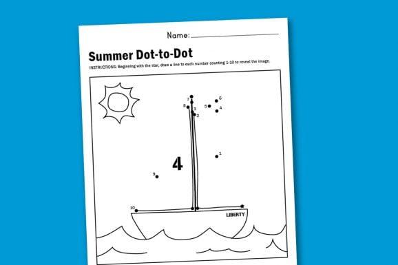 Sailboat Worksheet and new free worksheets posted weekly at PagingSupermom.com
