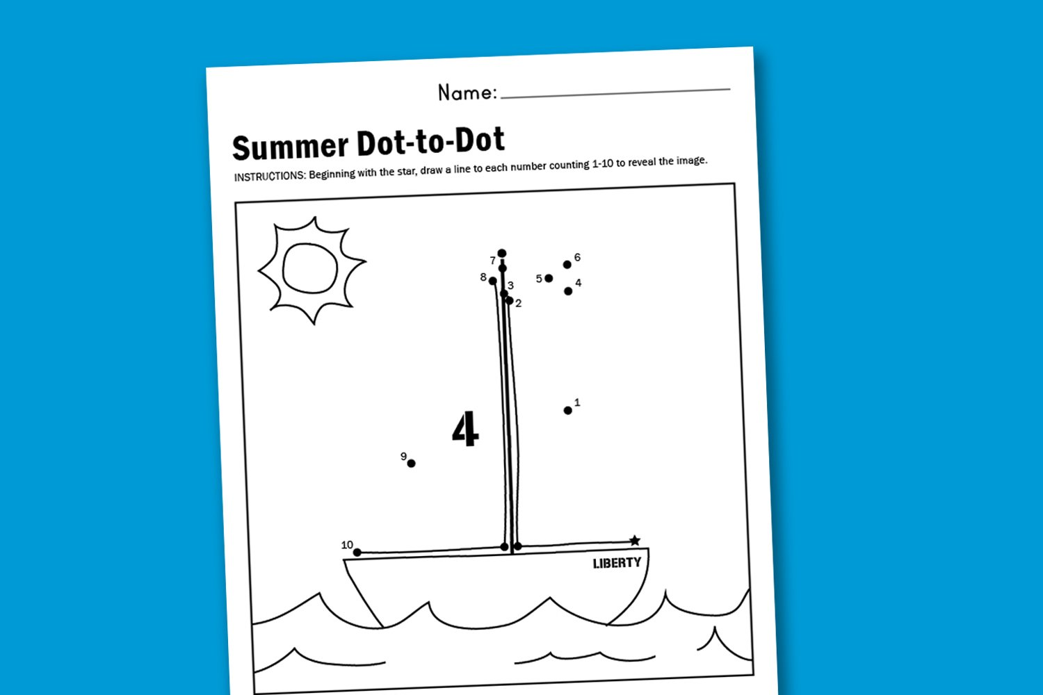 Worksheet Wednesday: Summer Dot-to-Dot - Paging Supermom