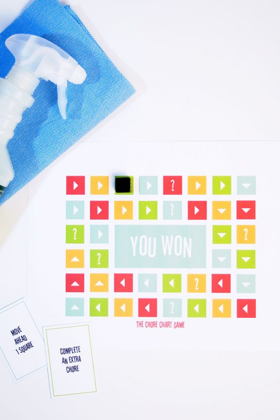 Free Printable Chore Game at PagingSupermom.com #printales #freebies