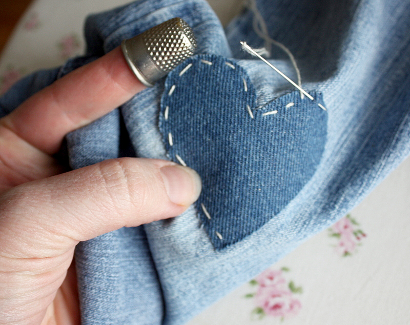 How to Fix Holes in Jeans at PagingSupermom.com #supertips