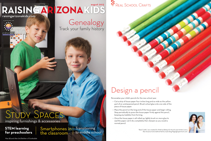 Dress Up your Pencil with Tissue Paper + Glue! Learn more at PagingSupermom.com #backtoschool