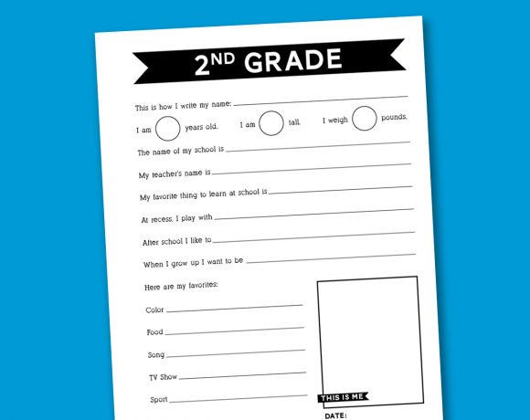 Back to School Survey Worksheet
