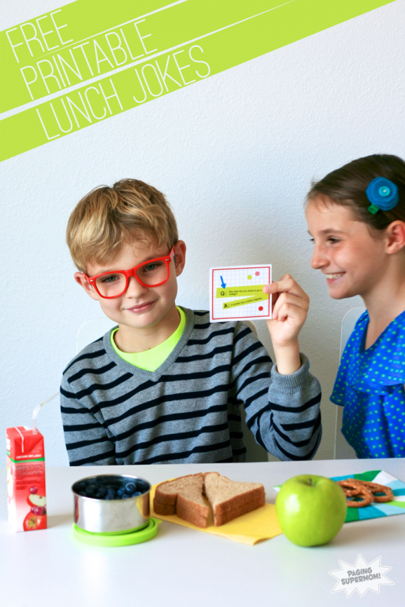 Free Printable Lunchbox Funnies from PagingSupermom.com