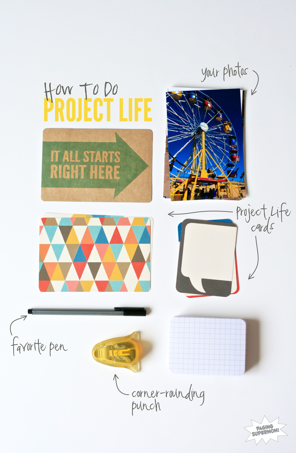How to Do Project Life for your Family Album at PagingSupermom.com