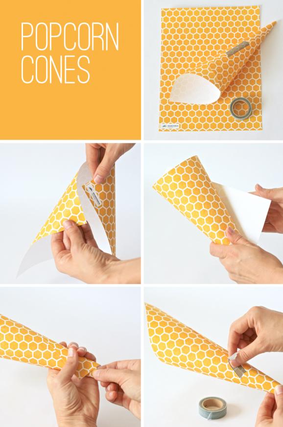 How to Make Popcorn Cones at PagingSupermom.com #disneywinnie