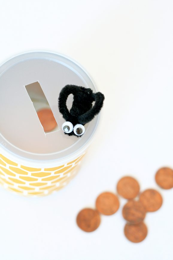 Honeycomb & Bee Bank - perfect craft for a Winnie the Pooh Party at PagingSupermom.com #disneywinnie