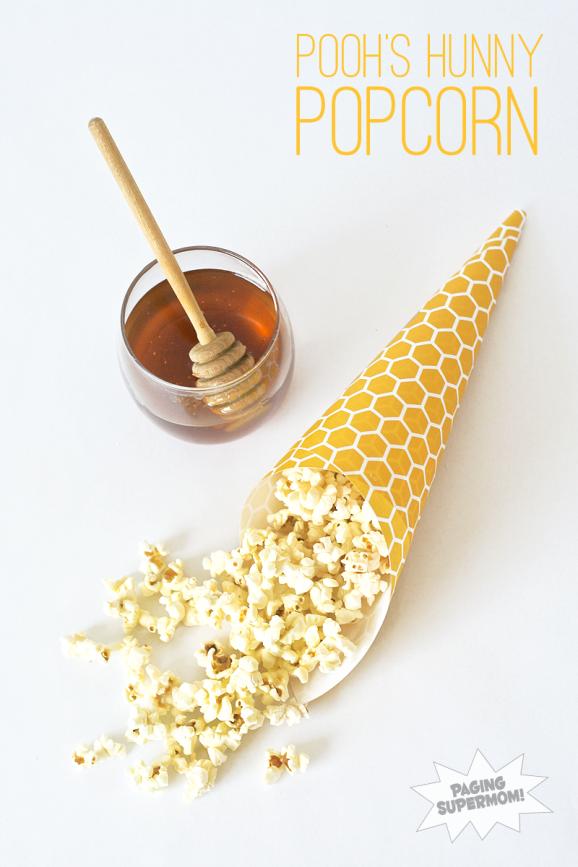 Pooh would love this Hunny Glazed Popcorn Recipe at PagingSupermom.com #disneywinnie
