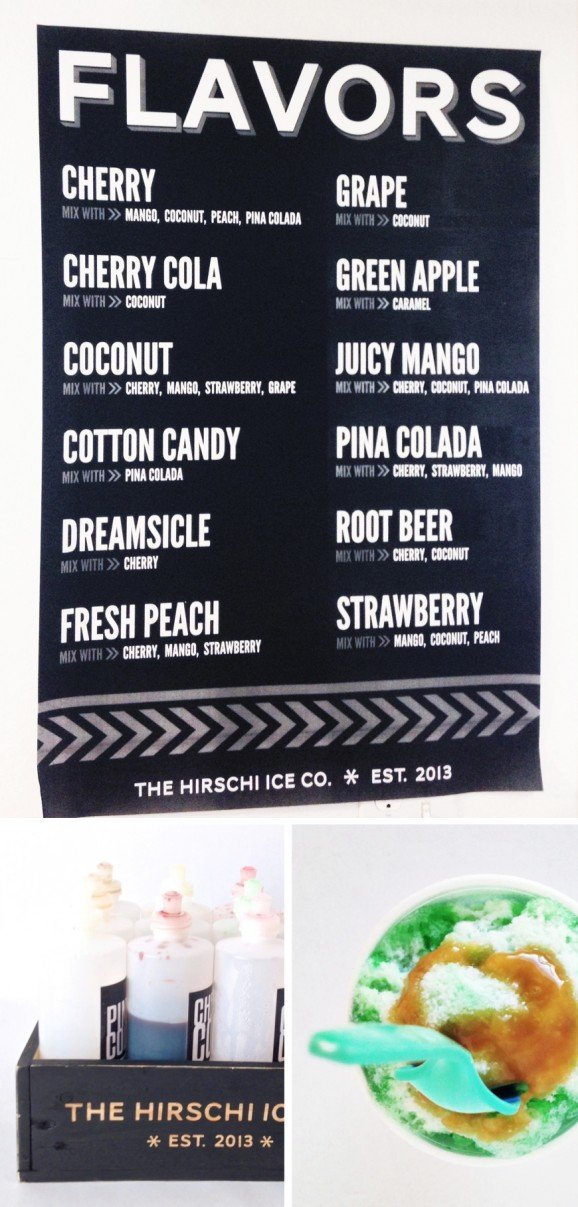 Free Printable Shave Ice Flavor Poster