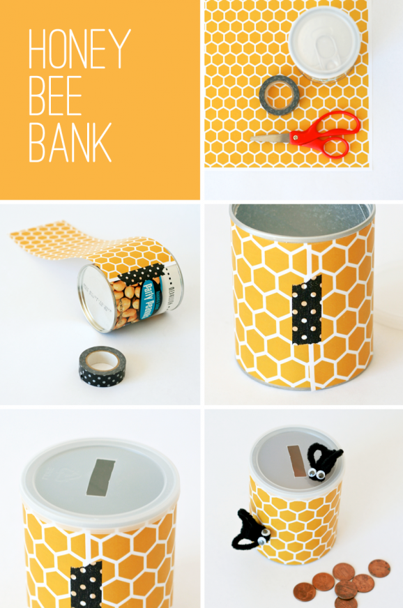 Winnie-Pooh-Kids-Craft-Bee-Bank