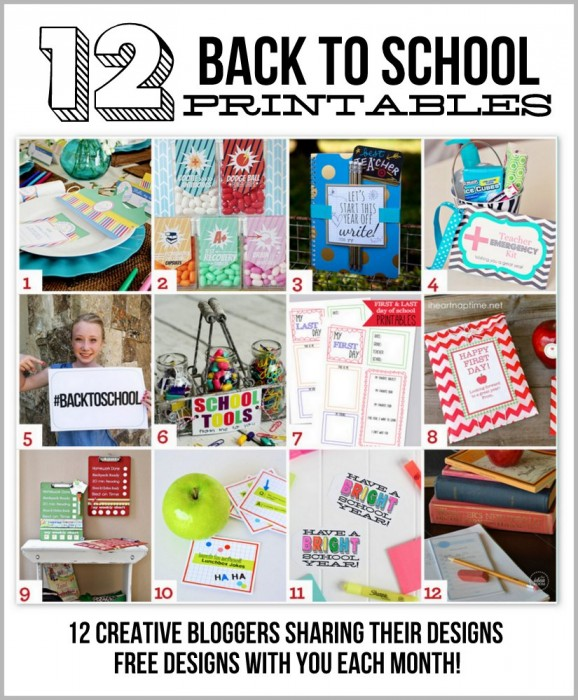 12 FREE Back to School Printables at PagingSupermom.com #backtoschool