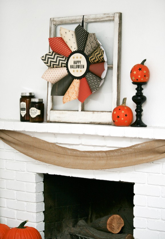 My Halloween Mantle With American Crafts Paging Supermom
