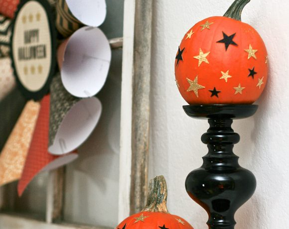 My Halloween Mantle with American Crafts