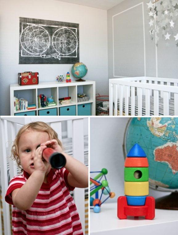 Baby Boy Star Constellation Themed Nursery