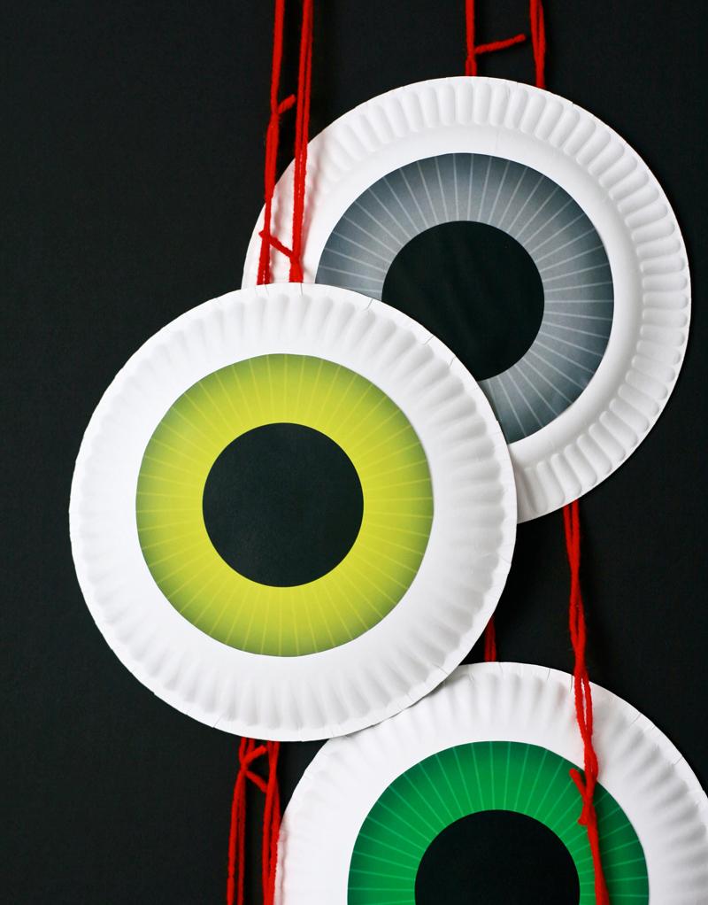 Dangling Eyeballs & 12 Free Halloween Printables - Paging ...